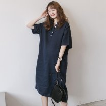 Outdoor casual clothes Tagkita / she and others ZZ102874685635 female eighty-two point seven zero Navy Blue 51-100 yuan Average size [100-200 Jin] other Summer 2020 Short sleeve summer Cotton and hemp