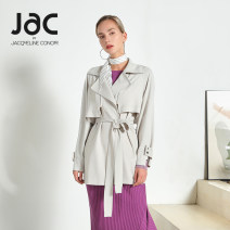 Windbreaker Spring 2020 0 / XS 2 / S 4 / M 6 / L or above is the recommended size. Members can enjoy 1v1 professional services Pure blue cured rice Long sleeves Medium length commute Frenulum tailored collar routine Solid color Straight cylinder Simplicity JAC BY JACQUELINE CONOIR SC01107 zipper