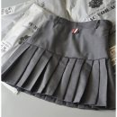 skirt Spring 2021 XL,M,S,XS Short skirt Versatile High waist Pleated skirt Solid color Type A 18-24 years old 91% (inclusive) - 95% (inclusive) other polyester fiber Stitching, zippers, buttons, folds