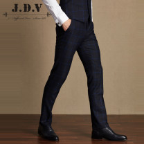 Western-style trousers J.D.V Fashion City WPL7057 trousers Wool 48.4% polyester 31.5% viscose 20.1% Slim fit winter go to work youth Fall 2017 Same model in shopping malls (both online and offline) 165/68A 170/72A 175/76A 180/80A 180/84A 185/88A Dark blue