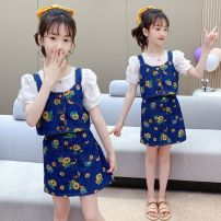 Dress female Other / other Other 100% summer princess other other Broken flower Class A 3 months White shirt (order before 16 o'clock, delivery on the same day), Vest + skirt (priority for collection store), three piece set (free try on)