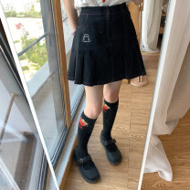 skirt Summer 2021 S,M,L Short skirt commute Natural waist Pleated skirt 18-24 years old More than 95% other cotton 141g / m ^ 2 (including) - 160g / m ^ 2 (including)