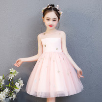 Dress Grey, white, shrimp pink female Bad little treasure 110cm,120cm,130cm,140cm,150cm,160cm Other 100% summer princess Skirt / vest Solid color other A-line skirt H1026bx Class B 2, 3, 4, 5, 6, 7, 8, 9, 10, 11, 12 years old Chinese Mainland Guangdong Province