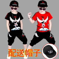 suit Dr. cradle 110MA 120MA 130MA 140MA 150MA 160MA male summer motion Short sleeve + pants 2 pieces routine There are models in the real shooting Socket nothing other cotton children Giving presents at school Class B Summer of 2019 Chinese Mainland Guangdong Province