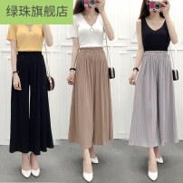 Casual pants Summer of 2019 Cropped Trousers loose  low-waisted LKszxqO Other
