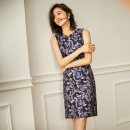 Dress Summer 2020 Purple lace jacquard S ml XL 2XL 3XL collection add to shopping cart and order for gift Middle-skirt singleton  Sleeveless commute other High waist Decor zipper Pencil skirt routine Others 35-39 years old Ba Zhicai Ol style HT-1251 More than 95% other polyester fiber