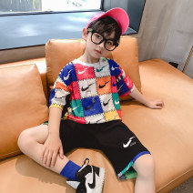 suit Benekti 110cm,120cm,130cm,140cm,150cm,160cm,170cm male summer Korean version Short sleeve + pants 2 pieces Thin money There are models in the real shooting Socket nothing children Giving presents at school Class B Five, six, seven, eight, nine, ten, eleven, twelve, thirteen, fourteen