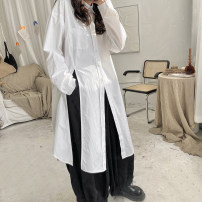 skirt Spring 2021 Average size White, black Mid length dress street Natural waist A-line skirt Solid color Type A 18-24 years old SC178 More than 95% other Other / other cotton Punk