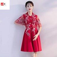 Dress / evening wear wedding S,M,L,XL,XXL,XXXL,4X V-neck, high waist, high neck, high waist High waist Rayon Other / other