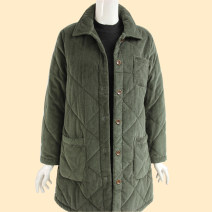 Middle aged and old women's wear Winter 2020, autumn 2020 Red, green, jujube L [recommended weight 90-106 kg], XL [recommended weight 108-124 kg], 2XL [recommended weight 125-138 kg], 3XL [recommended weight 140-152 kg], 4XL [recommended weight 155-170 kg] leisure time Cotton easy singleton  Cardigan