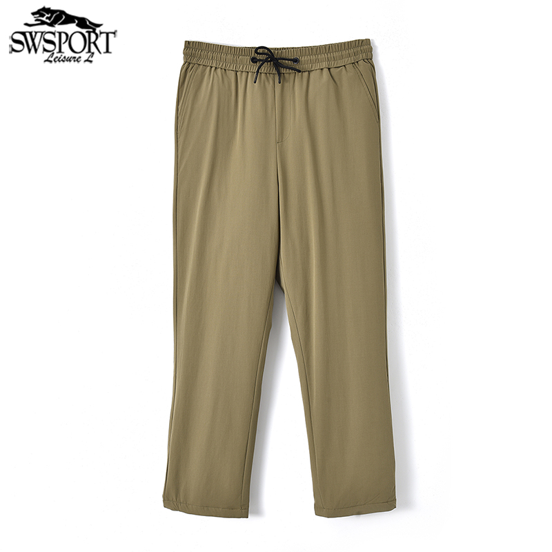 Down pants Swsport / running Wolf Black, khaki M,L,XL,2XL,3XL,4XL Youth fashion trousers Wear out leisure time youth QLB-109 Straight cylinder Solid color cotton