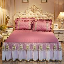 Bed skirt cotton The article is full of details Solid color First Grade TB#596950838377