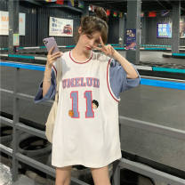 Latin top female other Xs, s, m, l, XL, one size fits all No.11 fake two jerseys # white, No.11 fake two jerseys # pink, No.11 fake two jerseys # gray, white short, collection baby + collection store = priority delivery ❤ Short sleeve Crew neck
