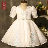 Children's dress white female 80cm 90cm 100cm 110cm 120cm 130cm Madonna full dress GD035 Class B Polyester 100% Spring 2021 12 months, 18 months princess