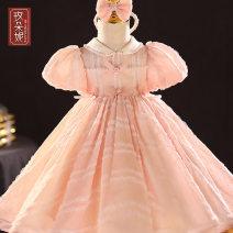 Children's dress Pink Blue female 80cm 90cm 100cm 110cm 120cm 130cm Madonna full dress GD20201 Class B Polyester 100% Spring 2021 12 months, 18 months princess