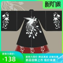 National costume / stage costume Spring 2021 Black two-piece set, red two-piece set, black big sleeve shirt + black skirt + top, black big sleeve shirt + red skirt + top, red big sleeve shirt + black skirt + top, red big sleeve shirt + red skirt + top