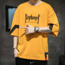 T-shirt other 3042 yellow, 3042 black, 3042 white, JK yellow, JK black, JK white, embrace yellow, embrace black, embrace white, Dy yellow, Dy black, Dy white, ch yellow, ch black, ch white, yellow solid, black solid, white solid Plush and thicken Others elbow sleeve Crew neck easy Other leisure other