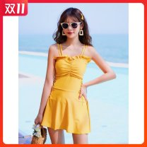 one piece  other S [recommended 80-90 kg], m [recommended 90-100 kg], l [recommended 100-110 kg], XL [recommended 110-120 kg], XXL [recommended 120-130 kg] Lianti 2041 yellow, Lianti 2041 black, Lianti 2041 lotus root powder, Lianti 86616 gray, Lianti 86616 pink, Lianti 86616 black Skirt one piece