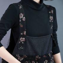 Dress Spring 2021 Black, red Average size longuette singleton  Sleeveless other backless