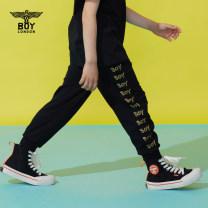 trousers BOY LONDON neutral 110cm 120cm 130cm 140cm 150cm 160cm black summer trousers Casual pants cotton Viscose fiber (viscose fiber) 57.9% polyamide fiber (nylon fiber) 36.2% polyurethane elastic fiber (spandex fiber) 5.9% J2123KD6104 Summer 2021