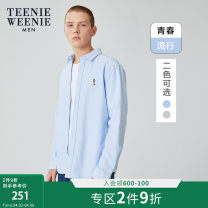 shirt Youth fashion TeenieWeenieMen 170/M 175/L 180/XL 185/2XL White a grey a pink a blue a B grey B blue routine Pointed collar (regular) Long sleeves standard daily winter TNYW94T01K youth Cotton 100% Youthful vigor Animal design Winter of 2019 other