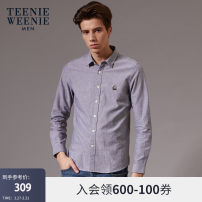 shirt Youth fashion TeenieWeenieMen 170/M 175/L 180/XL 185/2XL Pink ivory white blue navy grey routine Pointed collar (regular) Long sleeves standard daily winter TNYW94T03A youth Cotton 100% Youthful vigor Animal design Winter of 2019 other Same model in shopping mall (sold online and offline)