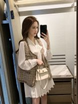 Cosplay women's wear Other women's wear goods in stock Over 14 years old Coffee vest, white shirt and skirt, coffee Vest + white shirt and skirt comic S,M,L Other See description
