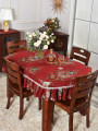 tablecloth Red, blue cloth European style Plants and flowers Jiayixuan