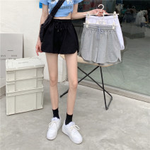 Casual pants Gray, white, black Average size Summer 2021 shorts Wide leg pants High waist commute routine 18-24 years old 31% (inclusive) - 50% (inclusive) Other / other cotton Korean version Bandage polyester fiber