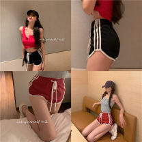 Casual pants Grey vest, red vest, black shorts, red shorts S, M Summer 2021 shorts Wide leg pants High waist commute Thin money 18-24 years old 51% (inclusive) - 70% (inclusive) other Korean version