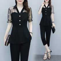 Fashion suit Summer 2021 M suggests 80-100kg, l 100-120kg, XL 120-140kg, 2XL 140-160kg, 3XL 160-180kg, 4XL 180-200kg 18-25 years old 96% and above polyester fiber