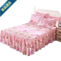 Bed skirt 2 pillowcases for bed skirt 1.2x2m, 2 pillowcases for bed skirt 1.5X2m, 2 pillowcases for bed skirt 1.8x2m, 2 pillowcases for bed skirt 1.8x2.2m and 2 pillowcases for bed skirt 2x2.2m cotton Other / other Plants and flowers