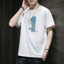 T-shirt Youth fashion T272 white, t272 black, t272 medium gray, T208 white, T208 dark gray, T208 green, T260 white, T260 black, T260 medium gray, two pieces of free combination routine M,L,XL,2XL,3XL,4XL UNIQLO / UNIQLO Short sleeve Crew neck standard Other leisure summer QJVO22Q7 Cotton 100% youth