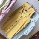 Fashion suit Spring 2021 M, L Light green , yellow , blue , white , Pink Purple 18-25 years old SG711234 30% and below cotton
