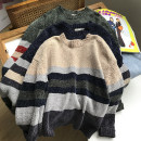 sweater Winter 2020 Average size Long sleeves Socket singleton  Regular cotton 30% and below Crew neck Regular commute routine stripe Straight cylinder Regular wool 18-24 years old cotton
