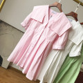 Dress Summer 2020 Pink dress, white dress, green dress Average size Middle-skirt singleton  elbow sleeve commute Solid color other routine 18-24 years old Other / other FG154687 30% and below other other