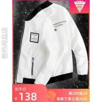 Jacket Other / other Youth fashion routine Self cultivation Other leisure spring Long sleeves Wear out Baseball collar tide youth routine Zipper placket Rib hem No iron treatment Closing sleeve Solid color polyester fiber Rib bottom pendulum Zipper bag other