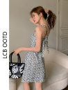 Dress Summer 2021 Picture color S,M,L Short skirt singleton  Sleeveless commute High waist Decor A-line skirt camisole 18-24 years old Type A Korean version 31% (inclusive) - 50% (inclusive) cotton