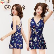 one piece  Other brands M (recommended 80-95 kg) cover the belly and show thin, l (recommended 95-105 kg), XL (recommended 105-110 kg) elegant back, 2XL (recommended 115-125 kg) fashionable and generous, 3XL (recommended 125-135 kg) No chest pad M21738 female Sleeveless Casual swimsuit