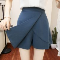 skirt Spring 2020 S,M,L,XL,2XL,3XL,4XL ZX black side zipper, ZX blue material color should be lighter, ZX wave point thin style back elastic waist, QH black side zipper has inner lining, QH black back zipper, ZX black back elastic, ZX light blue back elastic, QH small daisy trouser skirt summer style