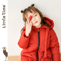 Cotton padded jacket female No detachable cap other Little time Pink Red Black 90cm 100cm 110cm 120cm 130cm thickening Zipper shirt Korean version Solid color chemical fiber Class B other Polyethylene terephthalate (polyester) 100% MA8D-YD01 Winter of 2019 winter Chinese Mainland Guangdong Province