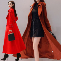 woolen coat Autumn 2020 polyester fiber 71% (inclusive) - 80% (inclusive) have more cash than can be accounted for Long sleeves commute Single breasted routine tailored collar Solid color Self cultivation Korean version Other / other 25-29 years old