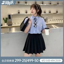 Women's large Summer 2020 Large L, large XL, large XXL, M Two piece set commute Korean version cotton Other / other 96% and above
