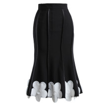 skirt Winter 2020 S,M,L black Mid length dress commute High waist Ruffle Skirt Solid color Type A 25-29 years old Phoebe Hz / Phoebe Hz polyester fiber zipper Britain
