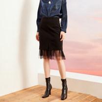 skirt Winter of 2019 S,M,L black