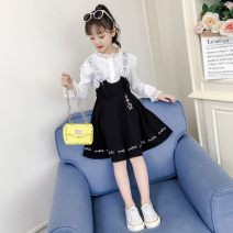 Dress Pink Black female HENGGUAN Other 100.0% spring and autumn princess Long sleeves Solid color other A-line skirt KXXB-W1926 Winter 2020 3 months 12 months 6 months 9 months 18 months 2 years 3 years 4 years 5 years 6 years 7 years 8 years 9 years 10 years 11 years 12 years 13 years 14 years old