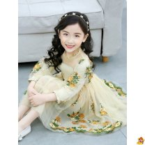 Dress Big flower embroidered mesh skirt sleeveless big flower embroidered dress summer dress female HENGGUAN 110cm 120cm 130cm 140cm 150cm Other 100% spring and autumn princess Long sleeves Broken flowers other A-line skirt Class B Spring 2013