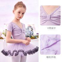 Children's performance clothes Pink light blue light purple female 105cm 110cm 120cm 130cm 140cm 150cm 160cm Cowekai / Kao Weijia Class B B8123 Ballet Cotton 93.2% polyurethane elastic fiber (spandex) 6.8% other Summer 2020 other