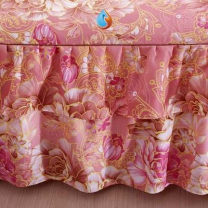 Bed skirt 2 pillowcases for bed skirt 1.2x2m, 2 pillowcases for bed skirt 1.5X2m, 2 pillowcases for bed skirt 1.8x2m, 2 pillowcases for bed skirt 1.8x2.2m and 2 pillowcases for bed skirt 2x2.2m cotton Other / other Plants and flowers First Grade 570891823535- 3Dqn9