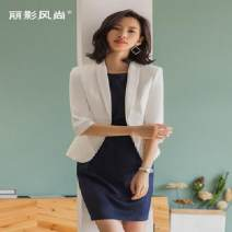 Professional dress suit S,M,L,XL,3XL,2XL Summer of 2019 elbow sleeve Jacket, other styles other 25-35 years old The fashion of Li Ying
